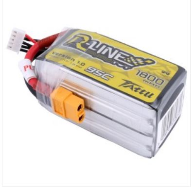 Gens ace TATTU R-line 1800mAh 14.8V 95C 4S1P Lipo Battery Pack