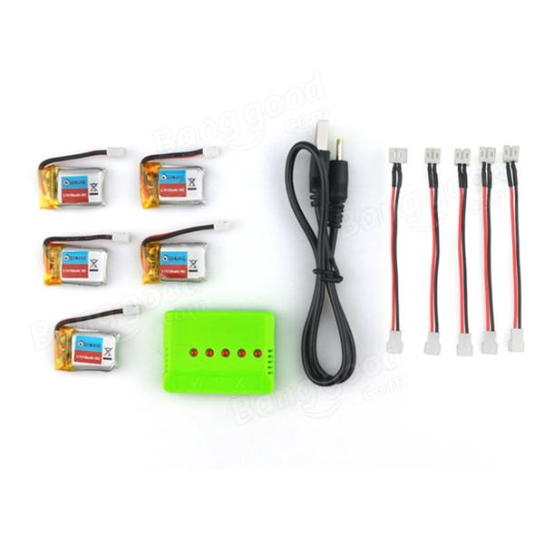 Battery set met lader 3.7volt 150Mah 30C voor eachine drone