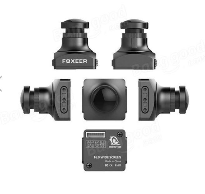 KF-Foxeer Monster V2 1200TVL 1/3 CMOS 16:9 PAL/NTSC IR Block FPV