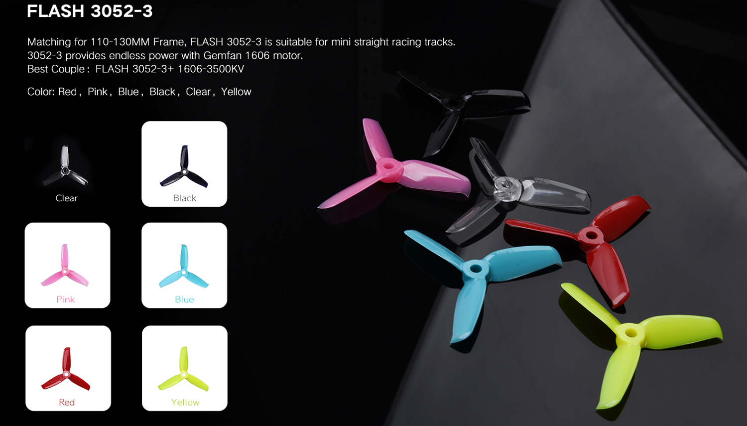 X Gemfan Durable High Efficiency 3 blade 3052 propeller 2*cw/2*c