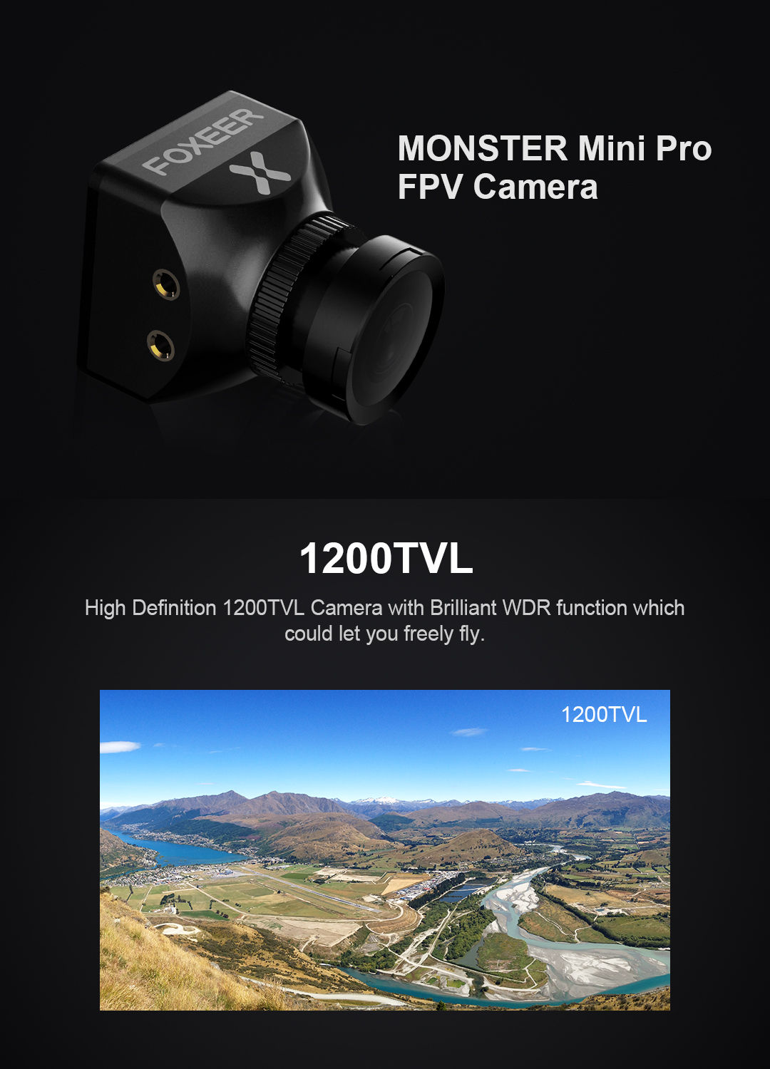 Foxeer Monster mini PRO 2.5mm  FPV camera