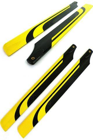 Carbon fiber CF 325mm collor blade Yellow