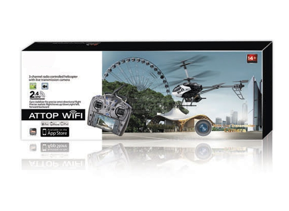 2.4G 3CH Wifi Control Camera RC Helicopter in live transmission
